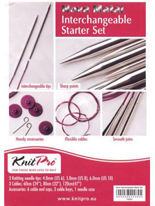 Knitpro Nova Metal Interchangeable Needle Set – Starter