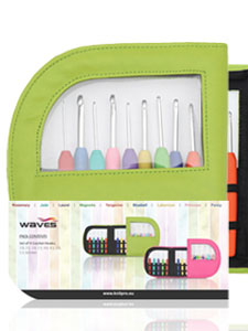Knitpro Waves Crochet Hook Set with Green Case