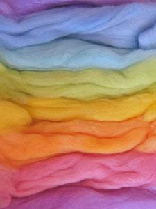 Karen Platte Felting Wool Hand Dyed – Mixed