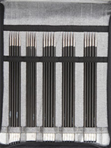 KnitPro Karbonz DPN Sock Needle Set (15cm)