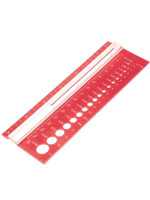 Knitpro View Sizer – Rectangular (Red)