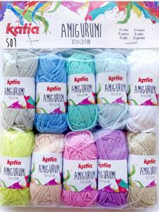 Amazon.com: Katia Cotton Yarn: Amigurumi 100%, Multicolor, 100 ... | 300x225