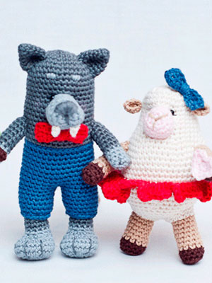 Wolf & Sheep in Katia Amigurumi – Free Pattern (E1P29)