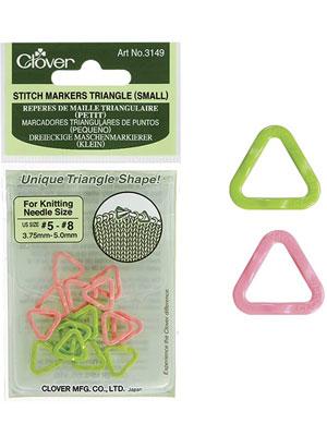 Clover Stitch Markers Triangle (Small)