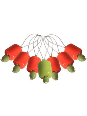 Knitpro ZOONI Orange Lily Stitch Markers
