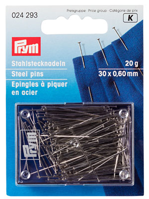 Prym Dressmakers pins, 0.60 x 34mm, 25g (024485)