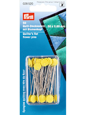Prym Quilt pins with flower head, 0.6 x 50mm (028520)
