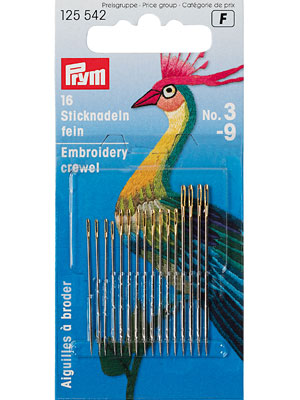 Prym Crewel needles, No. 3-9, assorted (125542)