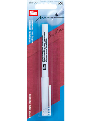 Prym Fabric marker pen, extra fine, permanent, black (611800)